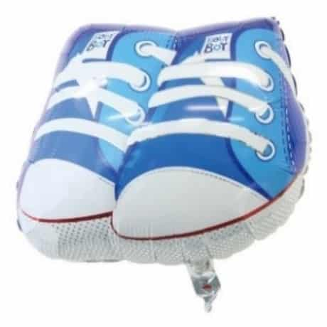 Baby Blue Athletic shoes image on a mylar party balloon from amazon march madness 2019 party ideas.