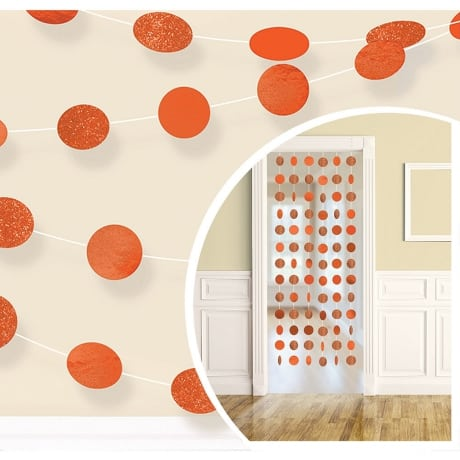 Orange Polka Dot decoration for a March Madness Party idea.