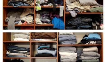 Closet organization shelves custom made for clean and tidy closet.