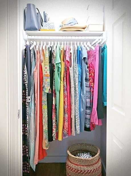 Closet Organization System Put Into Place With A Small Make Over Using The Marie Kondo