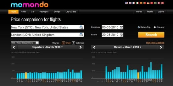 Momondo allows you to find, compare and book flights and hotels anywhere in the world at anytime.