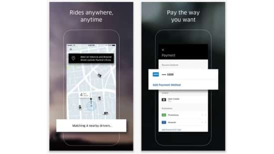 Uber is a ridesharing app connecting drivers and riders to get from one place to another quickly and cheaply.