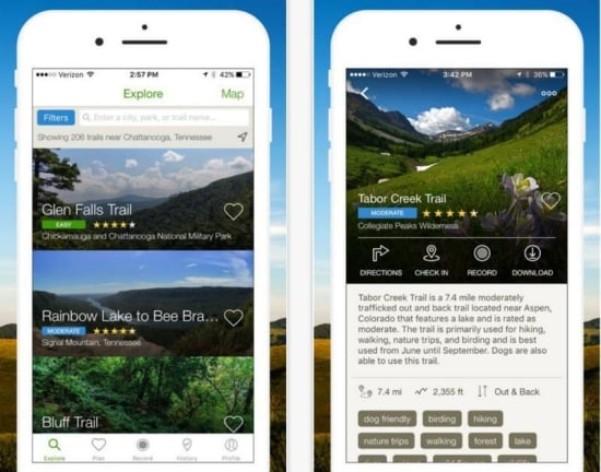 AllTrails allows people to explore the outdoors with a collection of detailed trail maps and trail reviews, photos from a community of 10 million registered hikers, mountain bikers and trail runners.