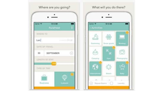 Packpoint is a packing app and packing list builder to help determine what to pack before going on a trip depending on the length of travel weather at your destination and any activities you have planned.