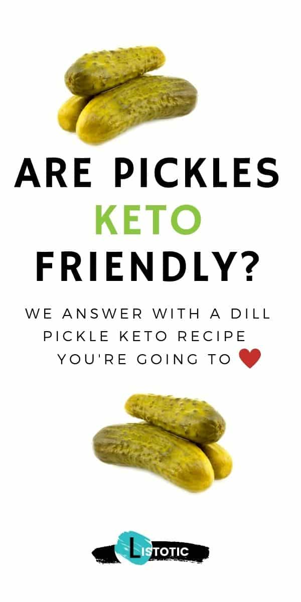Dill pickle recipe to answer the question are dill pickles keto diet friendly?