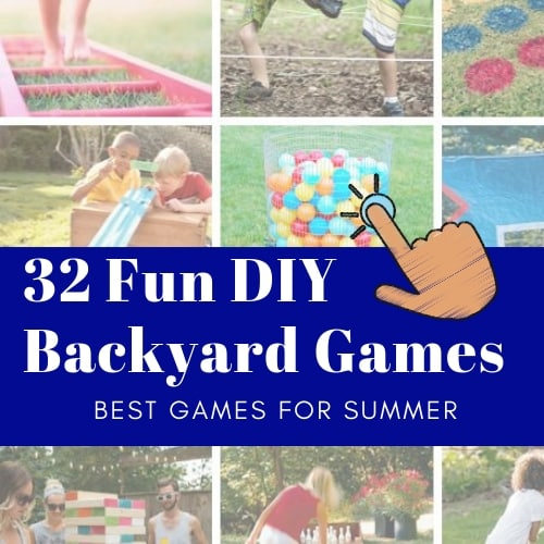 32 fun diy backyard game examples, including twister, jenga, obstacle course and more.