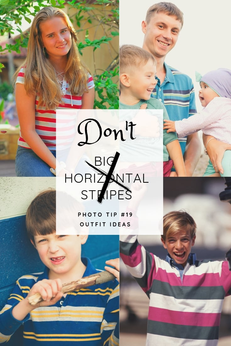 photo collage of photographs featuring images of people wearing bold striped shirts