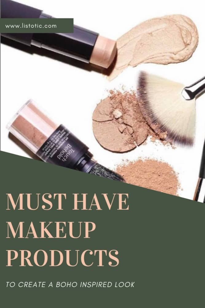 Boho makeup inspired look must have makeup products.