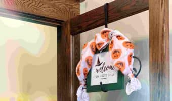 Halloween Party welcome sign printable on a office door