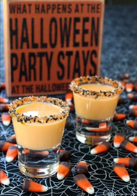 Halloween Inspired Pumpkin Pie Dessert Shots.