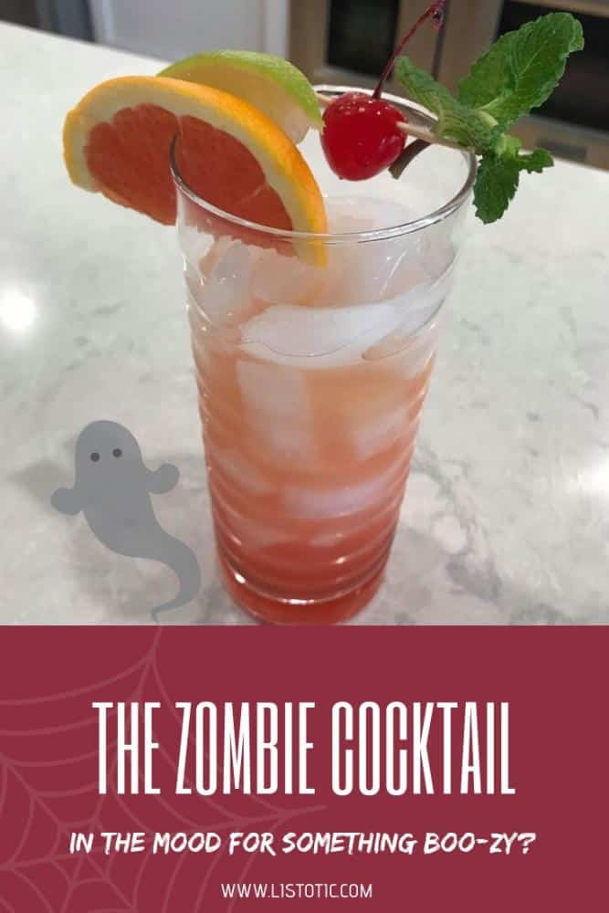 The Zombie Cocktail - a drink that packs a punch for Halloween.
