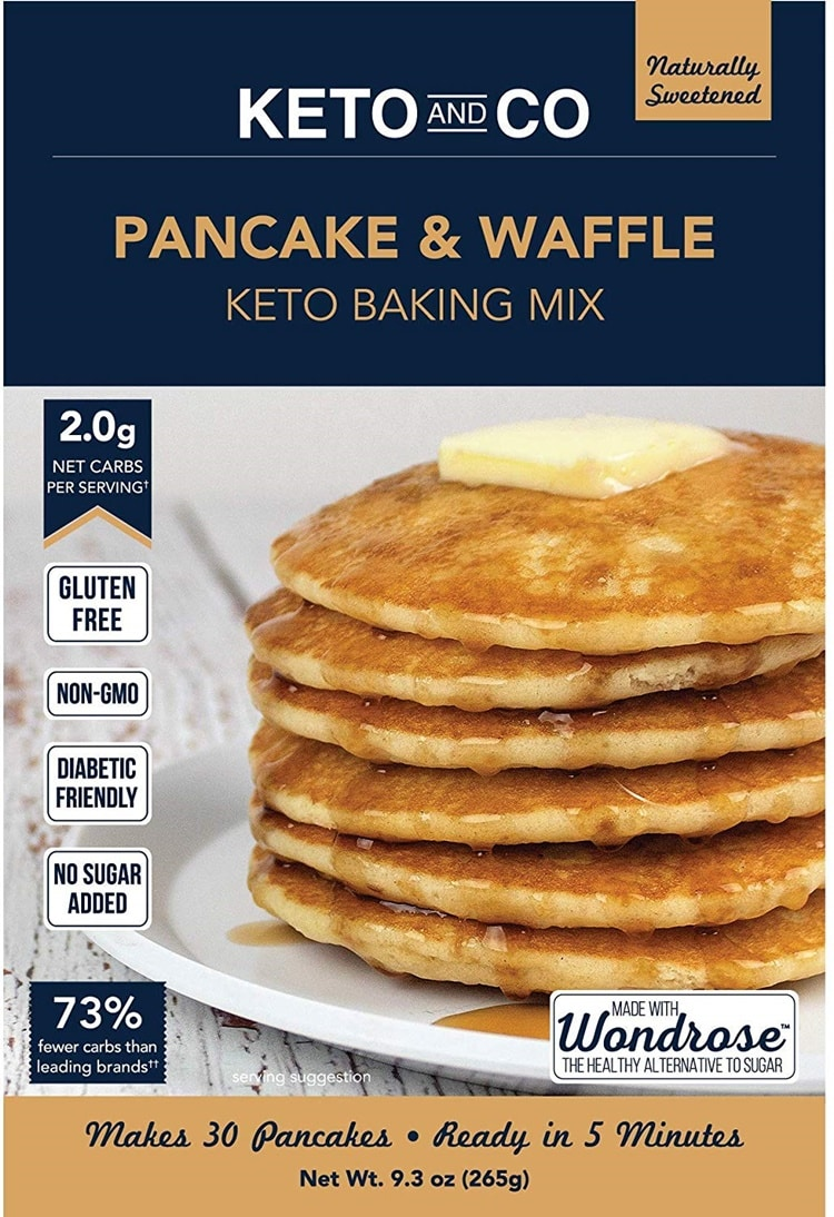 Keto friendly pancake a waffle baking mix