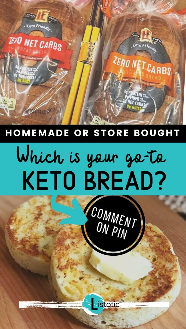 Low carb bread options. Grocery Store loafs of zero carb bread and homemade mirowave low carb bread choices.