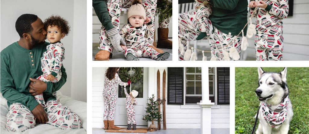 Burt's Bees Family Jammies - Merry Mittens.