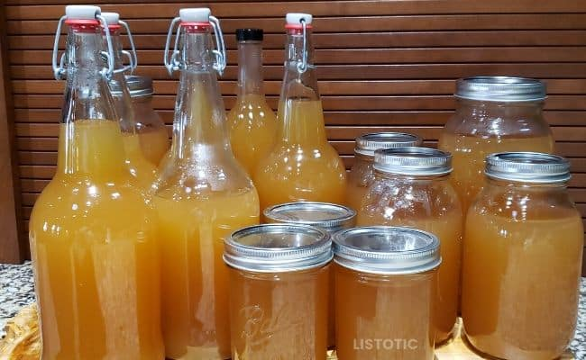Bottled Apple Pie Moonshine.