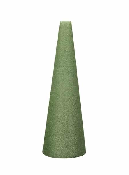tall cone shaped green foam cone for crafts