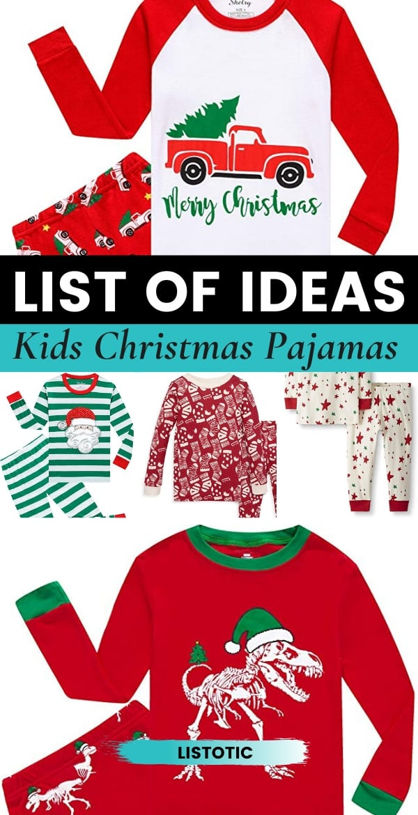 Variety of Kids festive Christmas Pajama Sets
