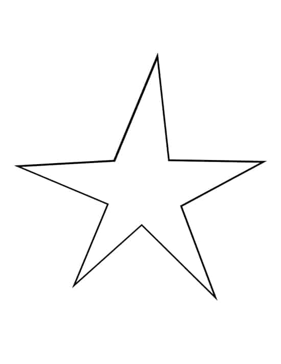 downloadable star shape for tracing star ornaments