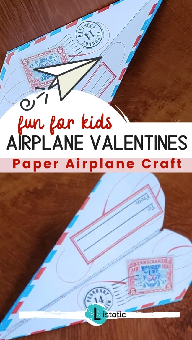 Paper airplanes crafted into valentines