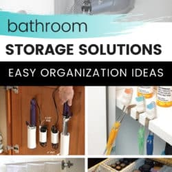 diy ideas for organizing items in the bathroom