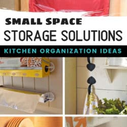 products and ideas for organizing small spaces in the kitchen
