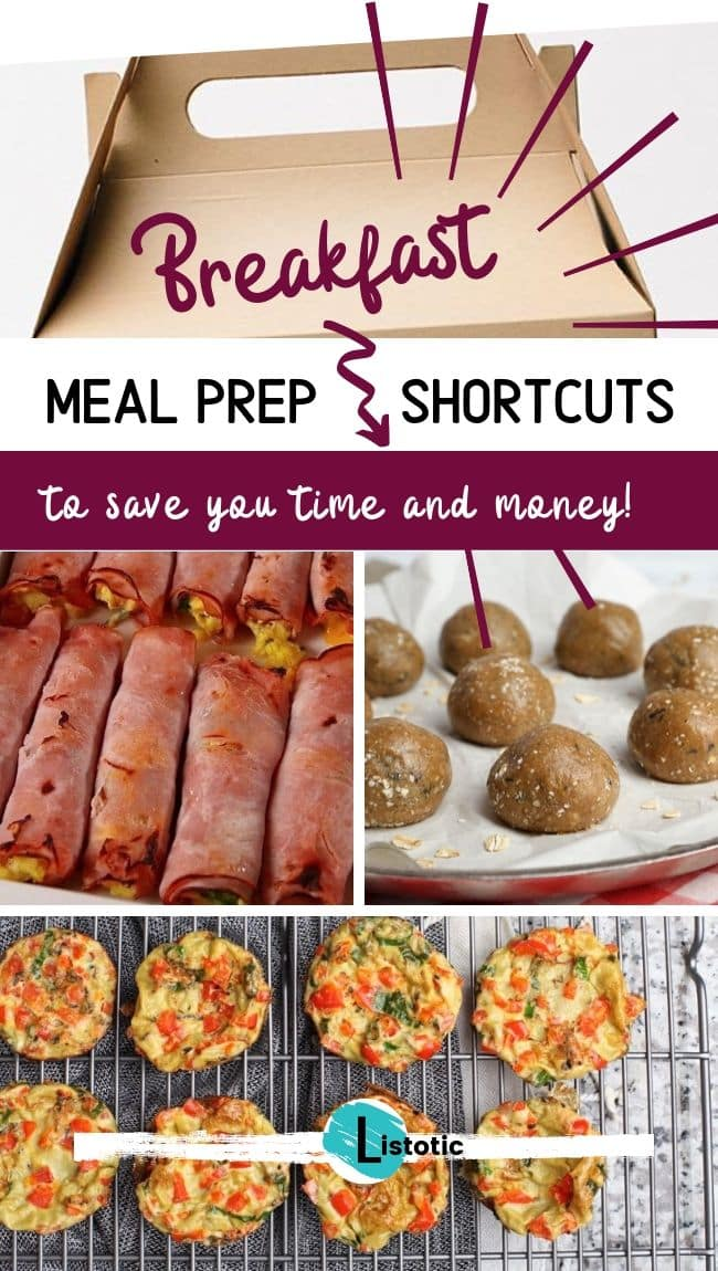 Options for breakfast meal prep ans shortcuts.