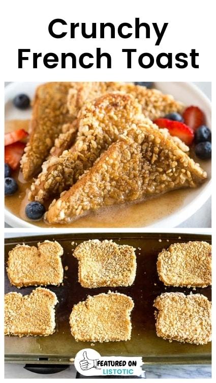 Crunchy breakfast toast.