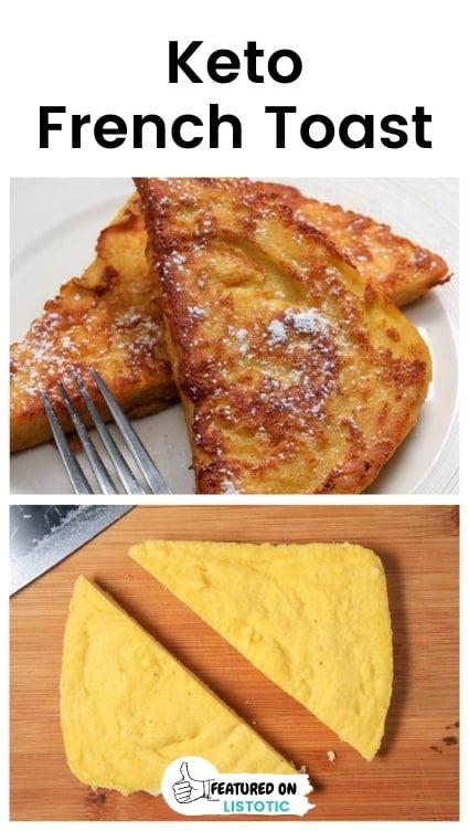 Keto friendly french toast recipes.