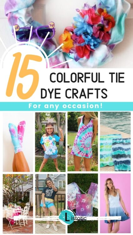 15 colorful tie dye crafts for any occasion