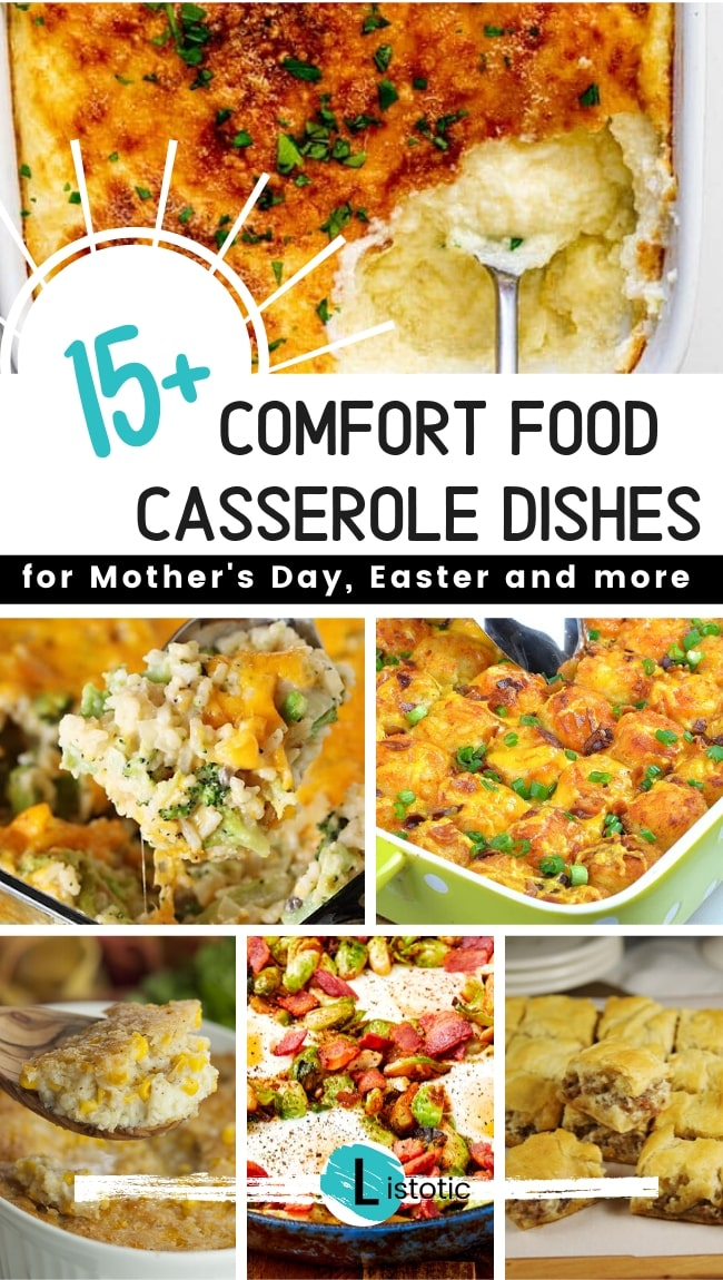 15 Easter casserole dishes with 6 samples showing.