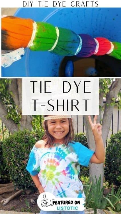 DIY tie dye t-shirt.