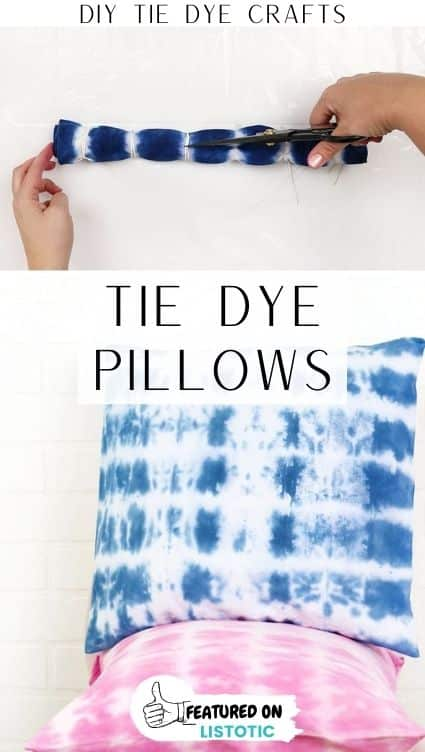 Tie dye crafts pillows.