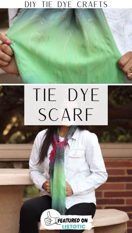 Tie dye crafts scarf.