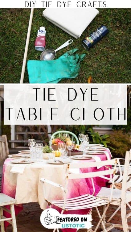 DIY table cloth.