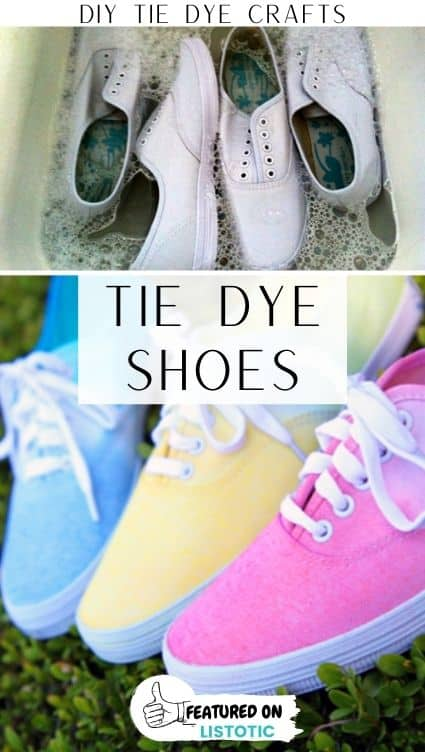 Tie dye crafts shoes.