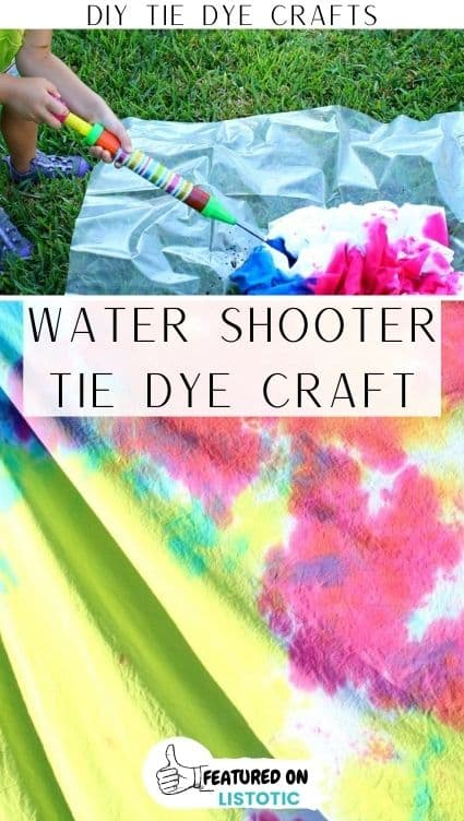 Water shooter tie dye crafts activity for kids.