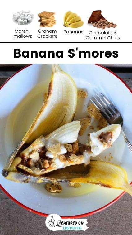 Banana boat campfire dessert.