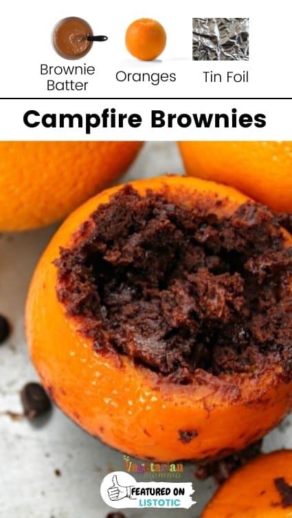 Campfire dessert brownies.