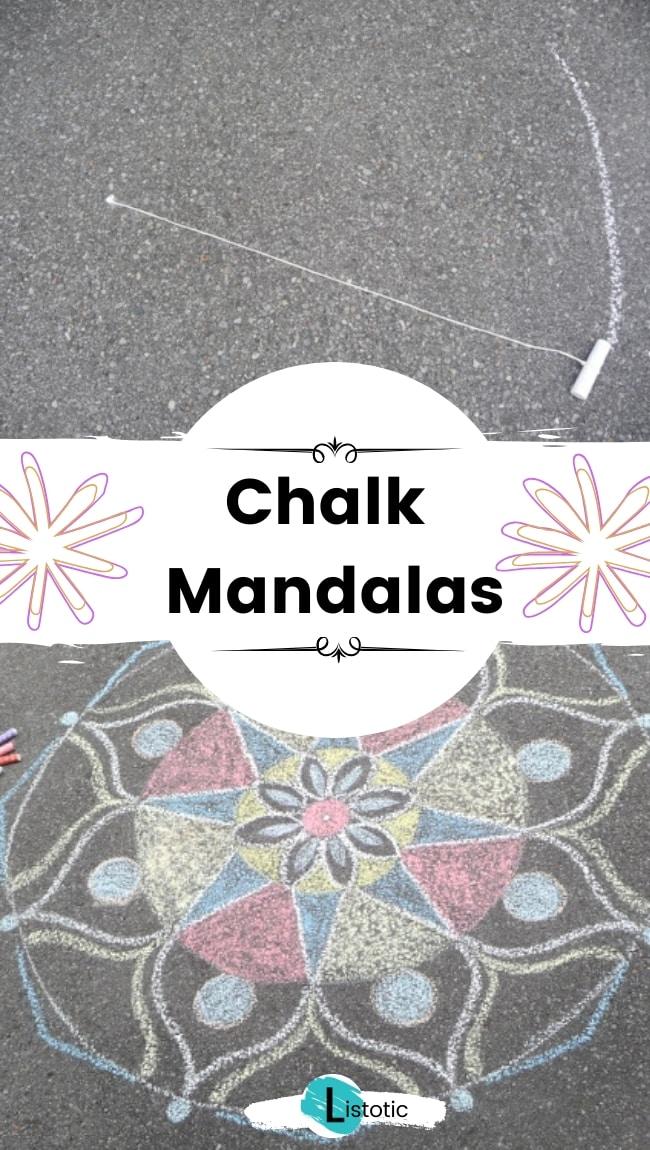 Chalk mandalas.