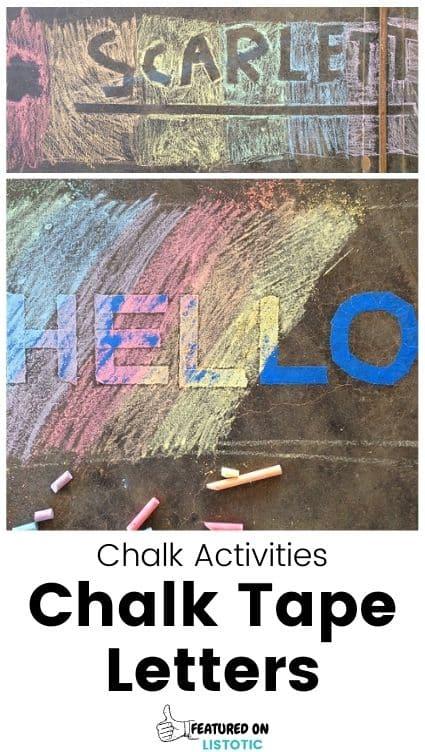 Sidewalk chalk resist art.