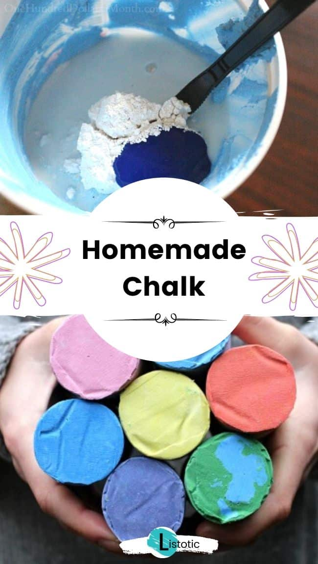 Homemade chalk.