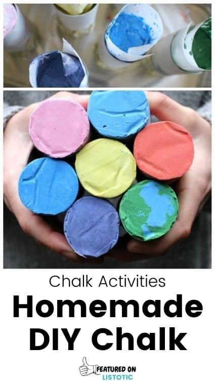 Homemade chalk DIY.
