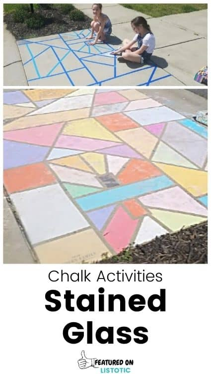Stained glass driveway art.