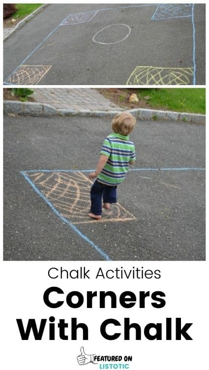 Easy DIY corners game for kids.