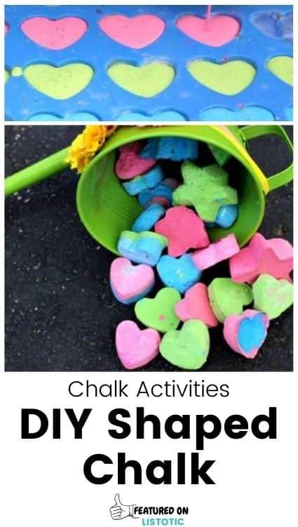 DIY shaped chalk.