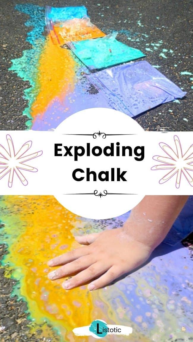 Exploding chalk.