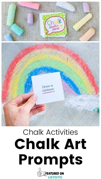 Chalk art prompt cards free printables.