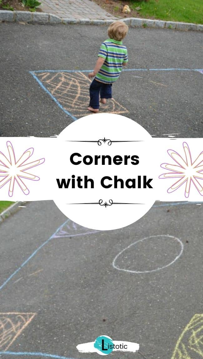 Corners game with chalk.