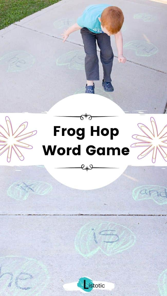 Frog hop learning game.