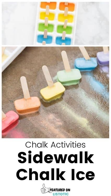 Chalk ice paintsicles.